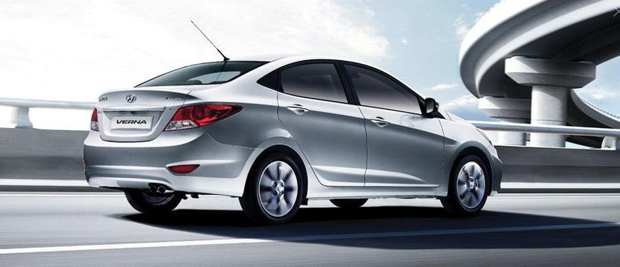 Hyundai Verna White 2012
