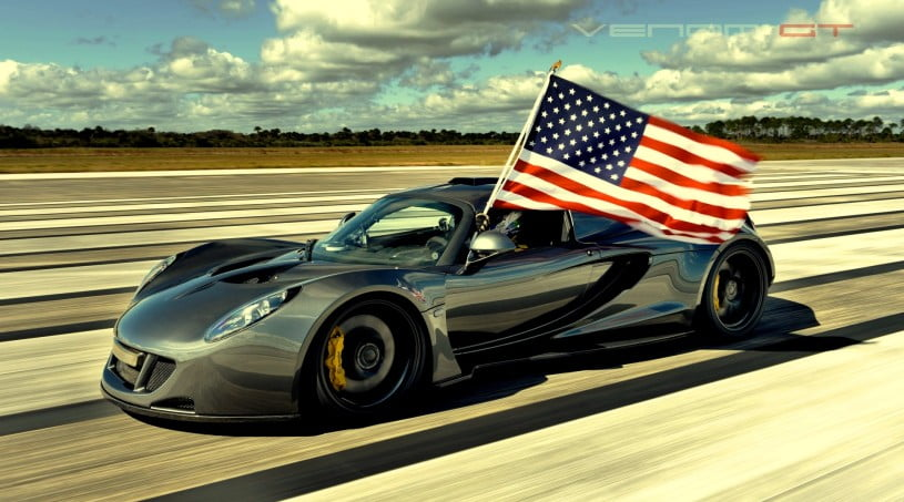 Hennessey Venom GT - Fastest Car Record