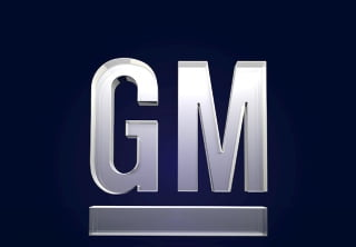 Frosted Glass GM Logo