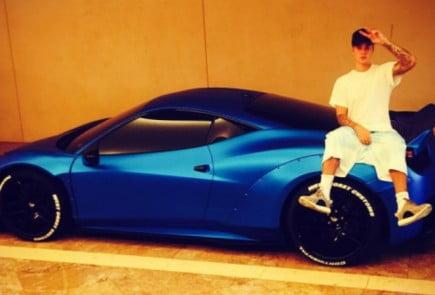 Justin Bieber Liberty Walk Ferrari 458 Italia