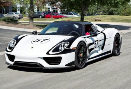 Porsche 918 Spyder with HRE P101 in Gloss Black-10