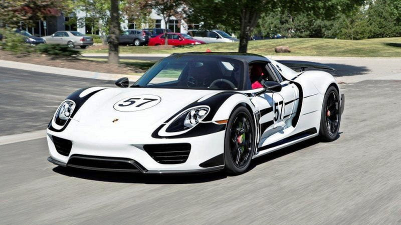 porsche 918 spyder with hre p101 in gloss black - Porsche 918 Spyder White