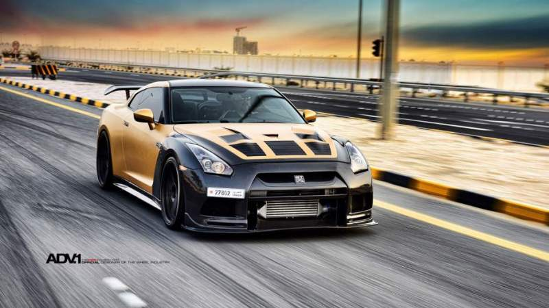 AMS Performance Nissan R35 GT-R on ADV Wheels – IndyaCars