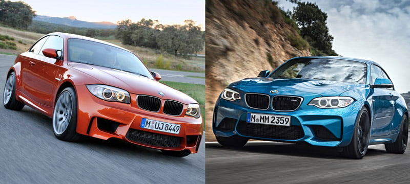 New 2016 BMW M2 Vs 1 M Coupe
