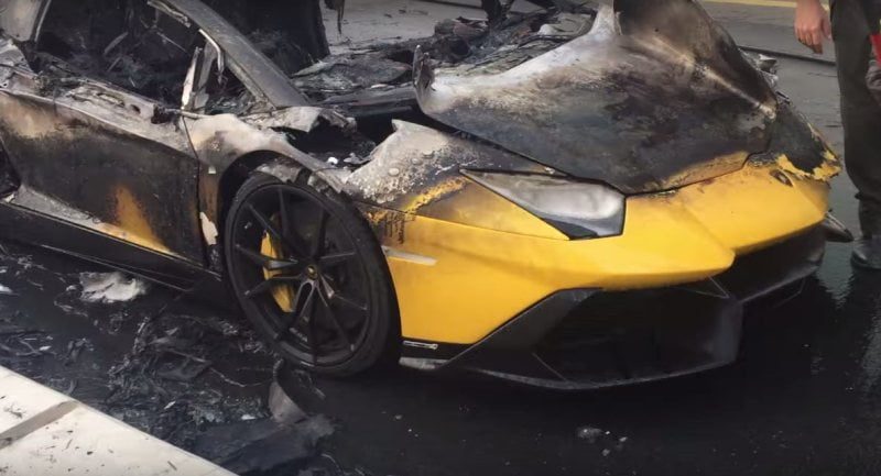 2018 lamborghini aventador roadster. wonderful 2018 lamborghini aventador roadster lp7204 50 anniversario catches fire in dubai with 2018 lamborghini aventador roadster