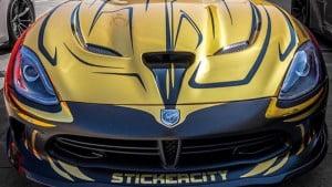 stickercity Dodge Viper with dubao camo wrap-4