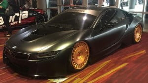 Beast i8 in Matte black with Gold Rims