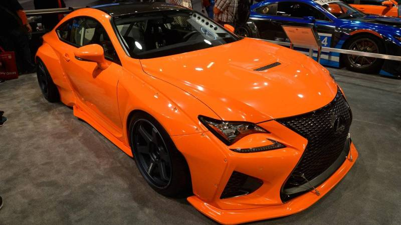 Orange Lexus RCF RocketBunny