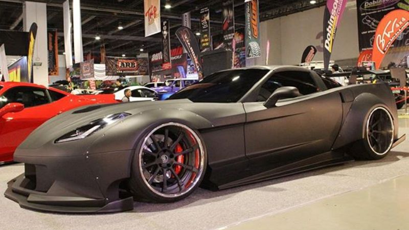 Black Manta WideBody Corvette C6