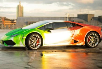 Lamborghini Huracan in Tricolor Wrap-2