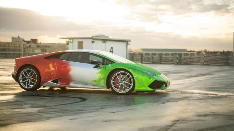 Lamborghini Huracan in Tricolor Wrap-3