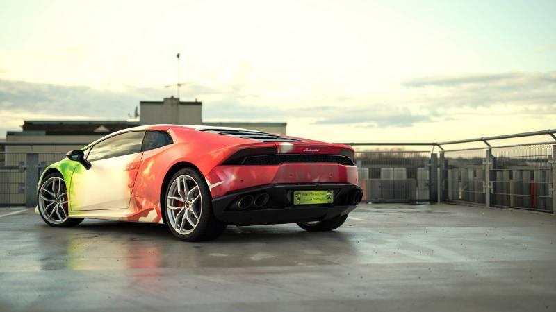 Lamborghini Huracan in Tricolor Wrap-7