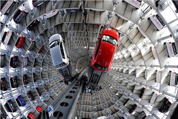 Modern Parking Lot