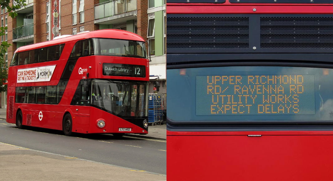 Traffic updates on the bus