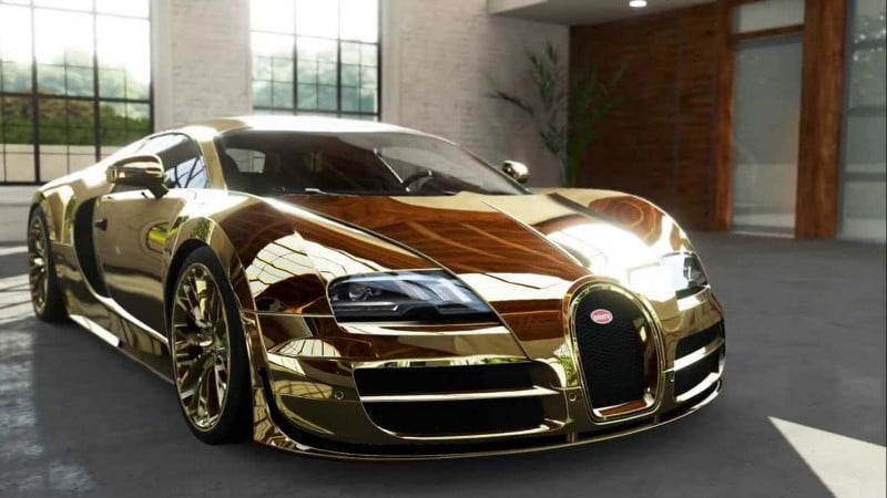 Flo Rida's Golden Bugatti
