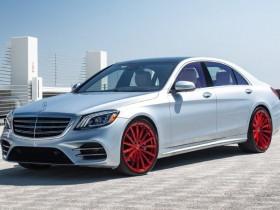 Benz with custom wheels